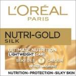 L`ORéAL Nutri Gold Silk дневен крем за лице за подмладяване на кожата