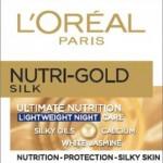 L`ORéAL Nutri Gold Silk нощен крем за лице за подмладяване на кожата