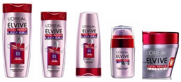 Серия L`Oreal Elseve Total Repair 5 Extreme шампоан, балсам, маска и серум за много суха и изтощена коса