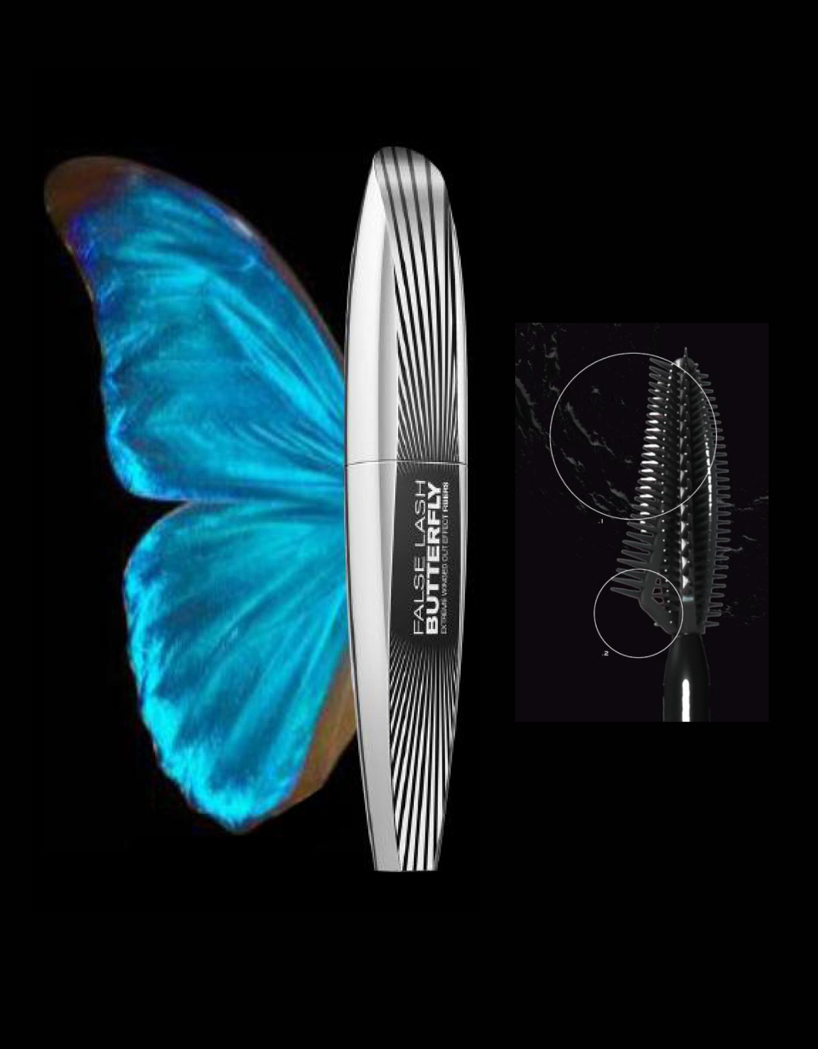 L'oreal тушь накладные ресницы крылья бабочки экстра-черная
